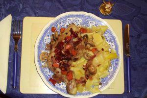 Coq au Schilcher (Hendl in Schilcher-Wein)